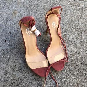 Rose Strap Heel Transparent
